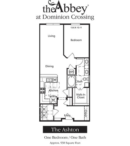 935 sq. ft. Ashton floor plan