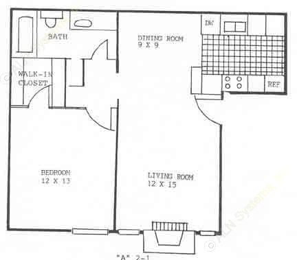 700 sq. ft. A4 floor plan