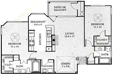 1,115 sq. ft. Colorado - B3 floor plan