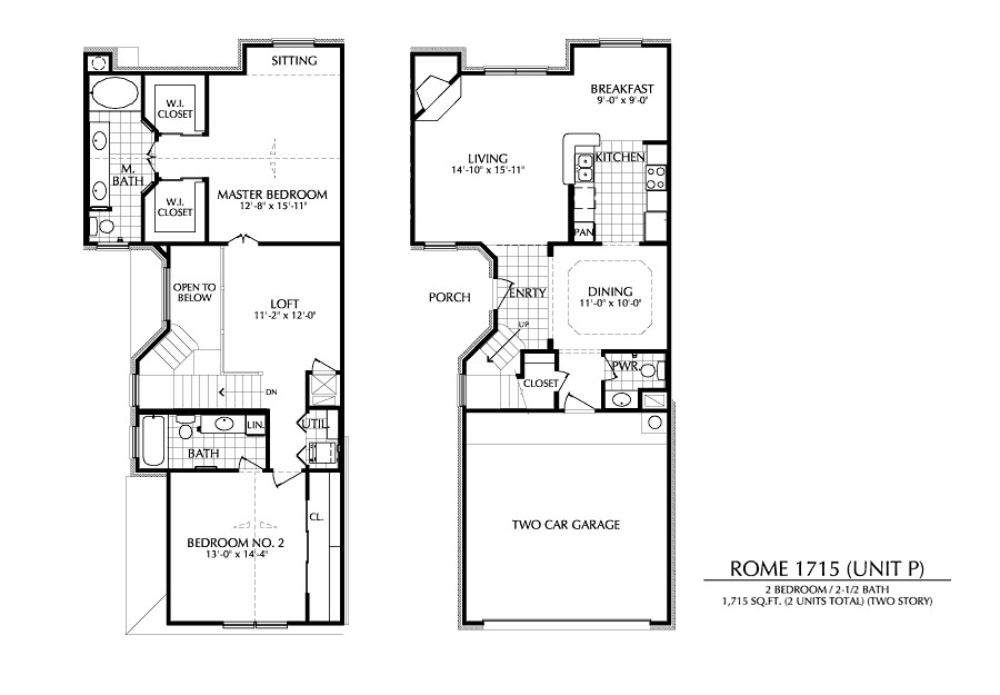 1,715 sq. ft. P floor plan