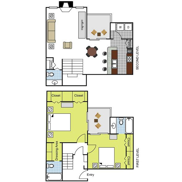 1,262 sq. ft. B5 floor plan
