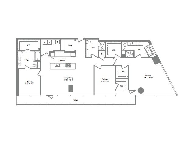 2,312 sq. ft. C1 floor plan
