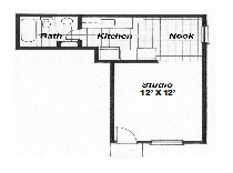 446 sq. ft. floor plan