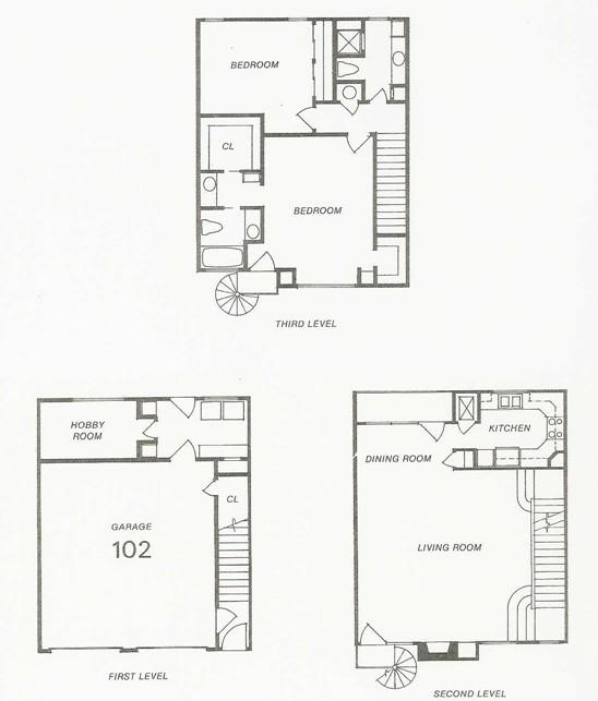 1,909 sq. ft. 107 Try-Level floor plan