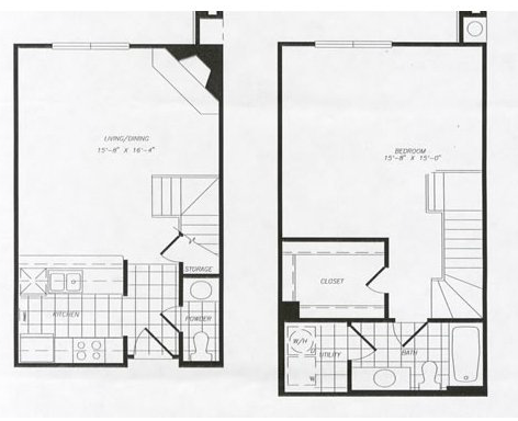 871 sq. ft. T5 floor plan