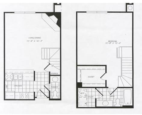 871 sq. ft. T5 floor plan