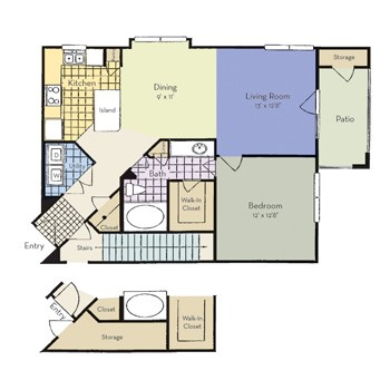 816 sq. ft. to 817 sq. ft. Prosper - A3 I floor plan