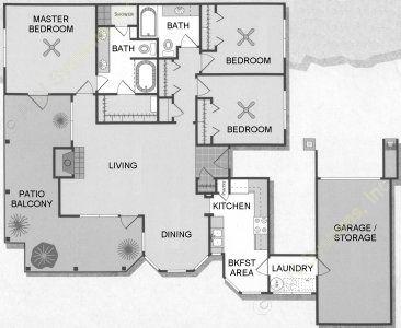 1,435 sq. ft. Rio Grande/C1 floor plan