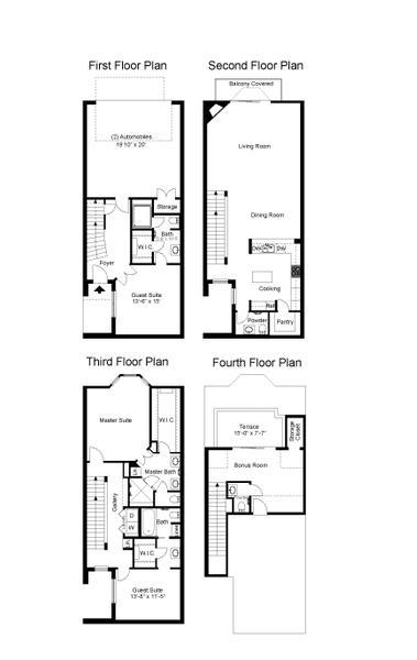 2,882 sq. ft. Colonial floor plan