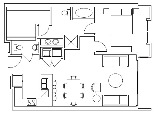 1,010 sq. ft. Sundance floor plan