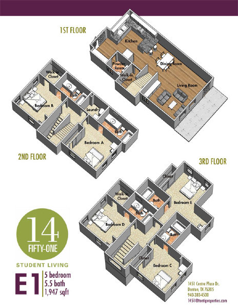 1,947 sq. ft. E1 floor plan