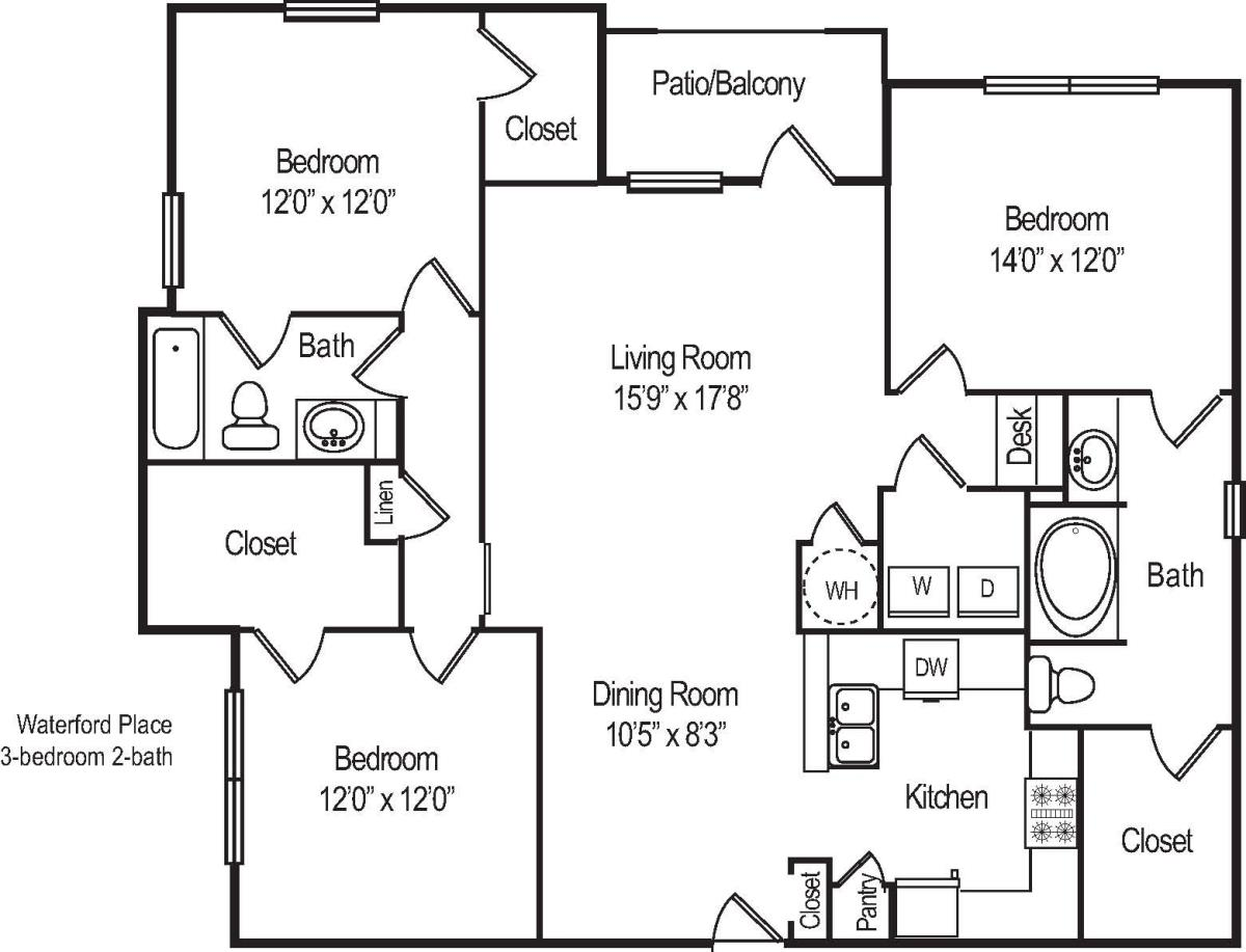 1,479 sq. ft. C12 floor plan