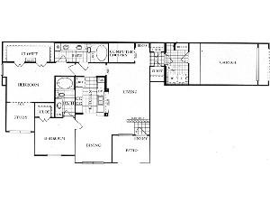 1,339 sq. ft. B6SG floor plan