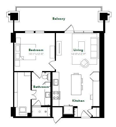 784 sq. ft. A28A.7 floor plan