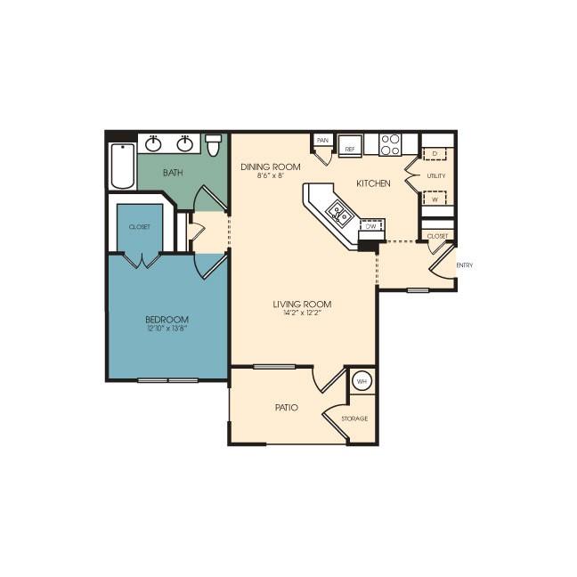 865 sq. ft. Buena Vista floor plan