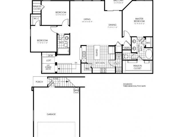 1,597 sq. ft. Dominion floor plan