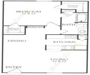 716 sq. ft. I floor plan