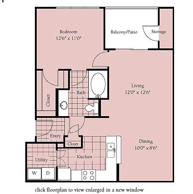 752 sq. ft. San Jose floor plan