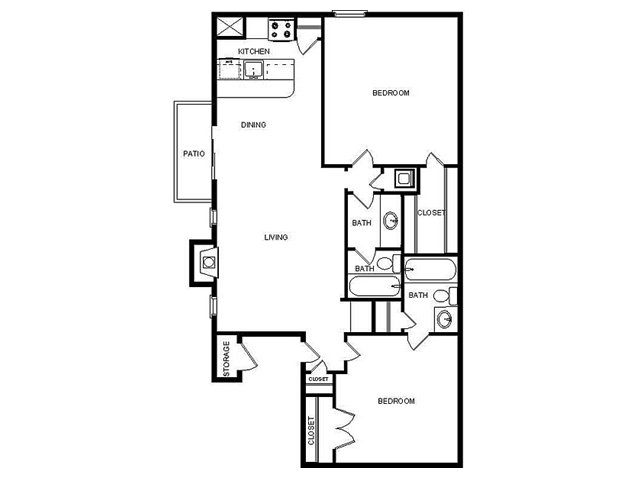 967 sq. ft. I/F floor plan