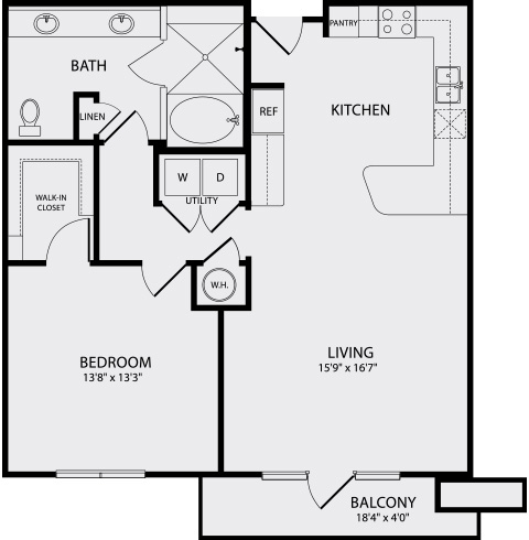 945 sq. ft. A4.1 floor plan