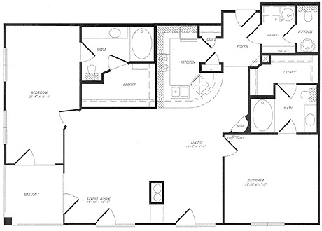 1,458 sq. ft. floor plan