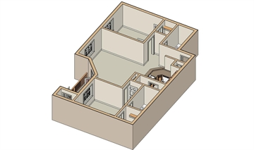950 sq. ft. B/50% floor plan