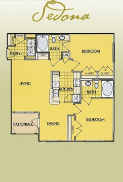 993 sq. ft. B1 floor plan