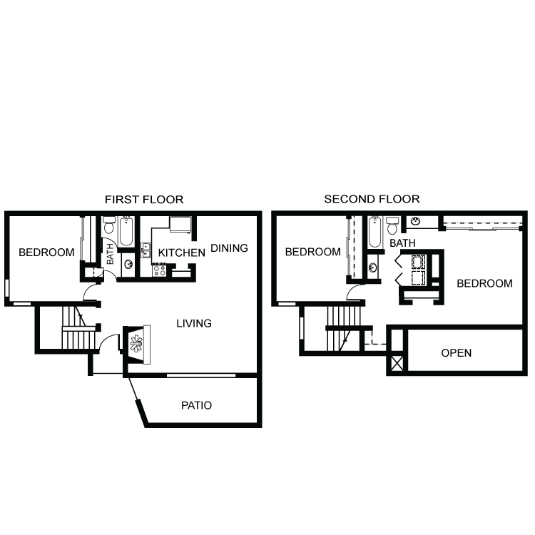 1,490 sq. ft. C2 floor plan