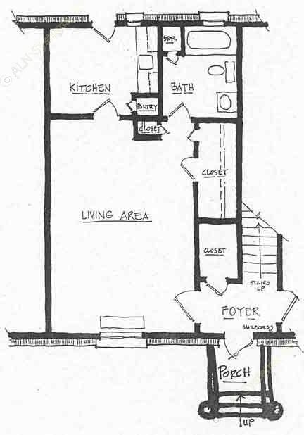 435 sq. ft. A-1 floor plan