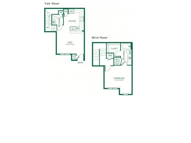 752 sq. ft. A2ANSI Digital floor plan
