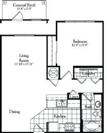 749 sq. ft. floor plan
