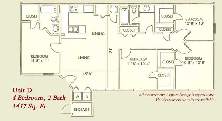 1,417 sq. ft. Mkt floor plan