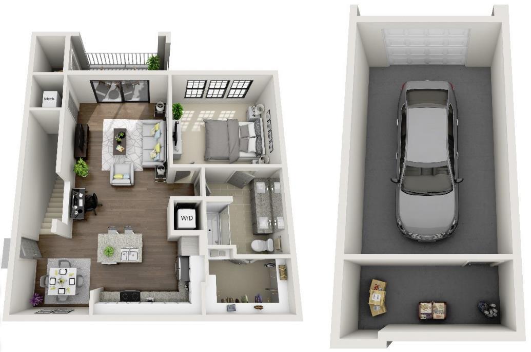 985 sq. ft. A7B.1 floor plan