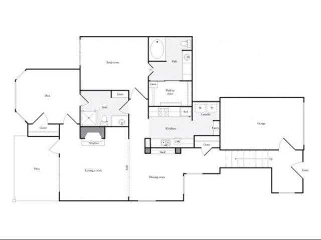 1,035 sq. ft. F floor plan
