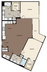1,228 sq. ft. C3 floor plan