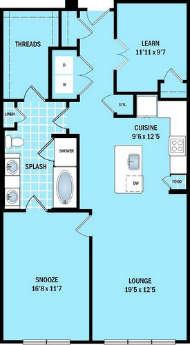 994 sq. ft. to 1,030 sq. ft. A6 floor plan