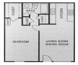 615 sq. ft. floor plan