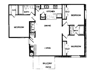 1,059 sq. ft. floor plan
