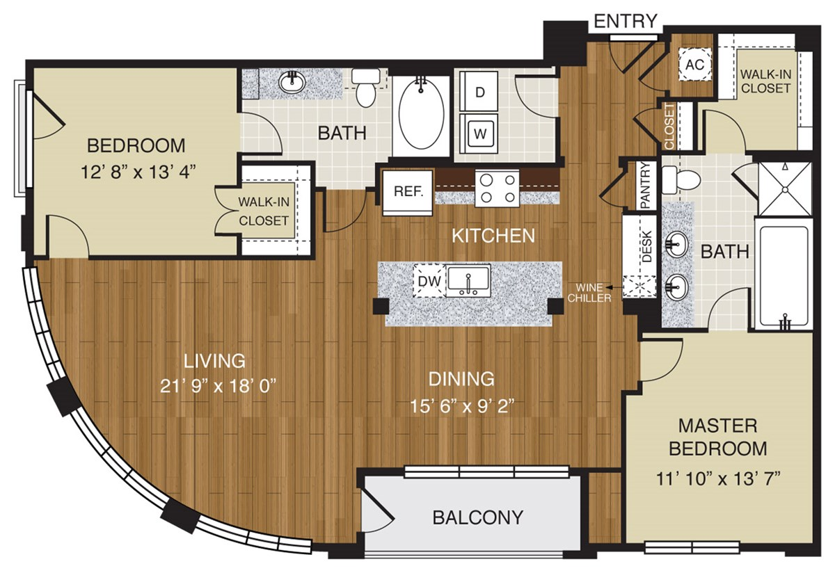 767 sq. ft. A3.2 floor plan