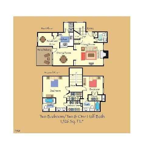 1,526 sq. ft. B5 floor plan