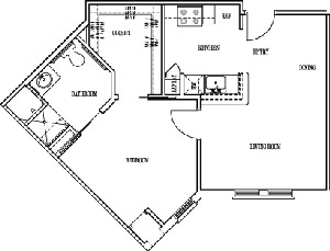 590 sq. ft. MANCHESTER floor plan