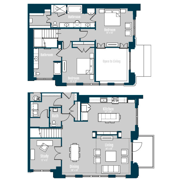 2,367 sq. ft. PH 2 floor plan