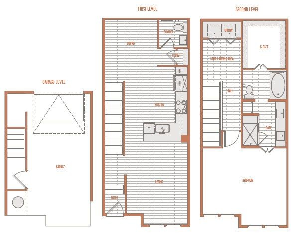 1,157 sq. ft. A1 Th floor plan
