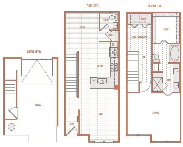 1,157 sq. ft. A1 Th floor plan