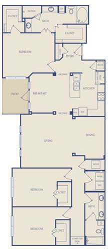 1,835 sq. ft. C1 floor plan