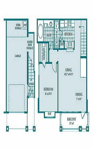 785 sq. ft. Axis floor plan