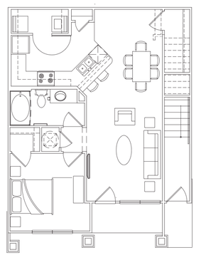 769 sq. ft. A-2 Lower floor plan