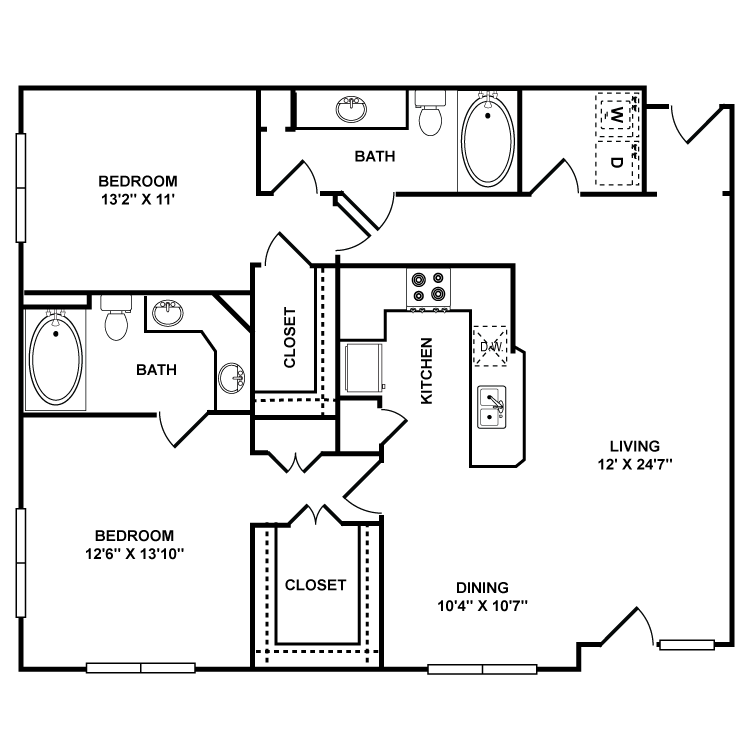 1,235 sq. ft. Prado floor plan
