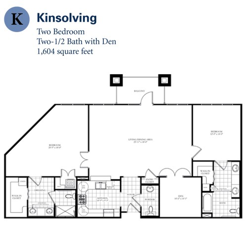 1,604 sq. ft. Kinsolving floor plan