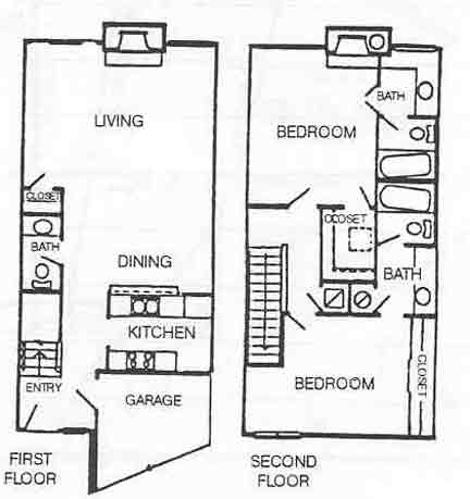 1,222 sq. ft. B-4 floor plan